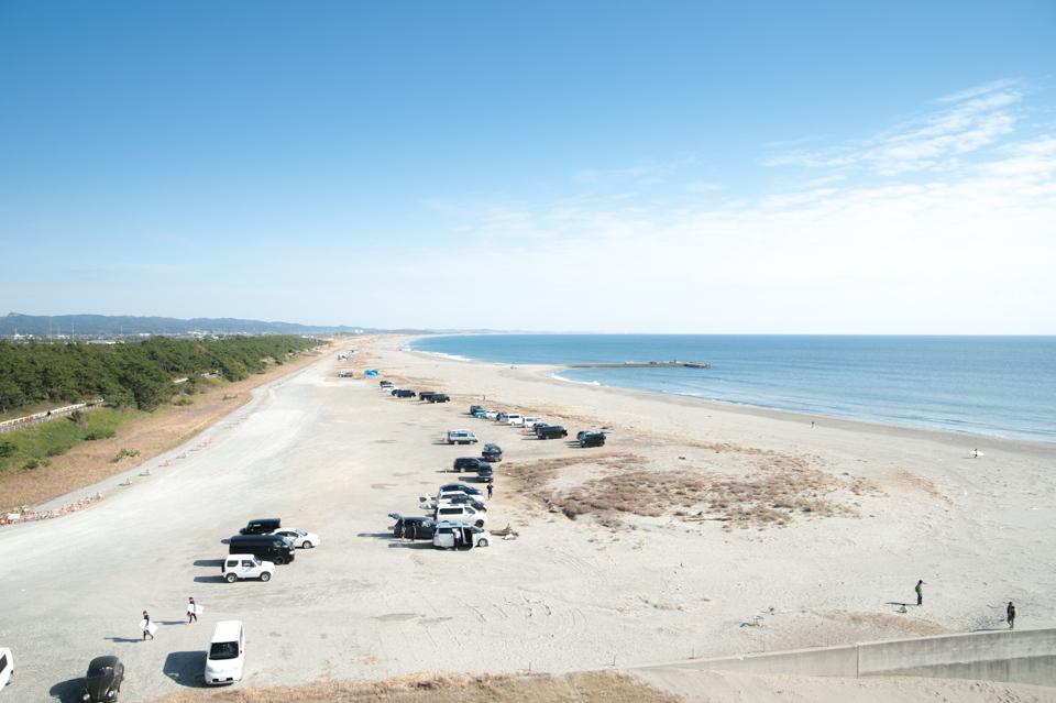 遠州灘を一望